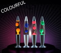 lava lamp - Novelty LED Light Rocket Lava Lamp Night Lights LED Glitter Gifts inch Lamps Christmas Gifts Party Wedding Gifts