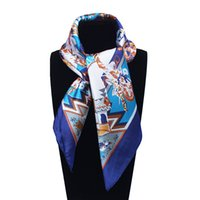 silk fashion square scarf - 60cm cm Women New Fashion Imitated Silk H Style Character Figure Printed Office Lady Square Scarf Hot Sale