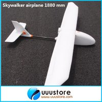 Cheap Wholesale-FPV Skywalker airplane 1900 mm carbon fiber tail version Glider white EPO FPV Airplane RC Plane Kit