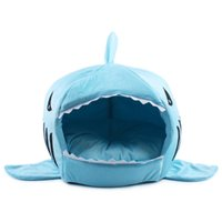 pet and dog diapers - Shark Mouth Kennel Pets Dogs bed Dogs Cats House Removable and Washable Pets Supplies
