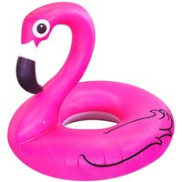 Wholesale 2016 Inflatable Giant Pink Flamingo Shaped Pool Float Raft Ring Swimming Water Fun