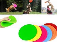 Wholesale 500 cm Colorful Soft Pet Dog Frisbee Flying Disc Tooth Resistant Outdoor Large Dog Training Fetch Toy NAR075