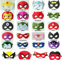 best batman costumes - BEST SELL New Superhero mask halloween cosplay masks kids costume masks superman captain america batman mask for cartoons styles by DHL