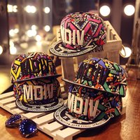 Wholesale New Trendy Summer Cap Letter Stitchwork Starts Accessories Printing Flat Brimmed Hip Hop Hat for Men Women