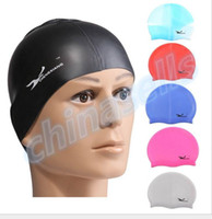 Wholesale adult adolescent Silicone swimming cap swimming hat hair cap waterproof silicone swimming cap