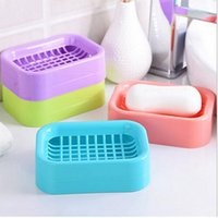 Wholesale 2016 new Creative DoubleDraining Soap Holder Non slip Soap Dish Soap Box