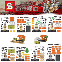 battle of the bulge - World War Western Front the Battle of Bulge Military Building Blocks Toys German US Solider Minifigures SY606