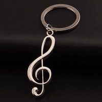 antique music stand - 10pcs new arrival hot metal music note key chain holder stand
