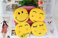 Wholesale Hot QQ Expression Coin Purses Cute Emoji Coin Bags Plush Pendant change pocket Women Girls Creative Chirstmas Gifts