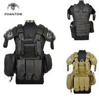 Wholesale Phantom D Tactical Vest Cycling Military Outdoor Sports Hunting Shoulder Protector Safety Clothes CS Vest Army Combat Gear