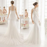 Wholesale 2016 jewel Elegant mermaid Bride gowns lace Sheath tulle high quality wedding dresses country style plus beach wedding dress QW812