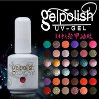 best nail varnish - 24Pcs gel nail Soak Off Nail GelPolish varnishes gel nails DHL colors top base Best UV colors