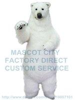 adult polar bear costume - realistic polar bear mascot costume adult size high quality fur white polar bear theme anime cosply costumes carnival fancy dress