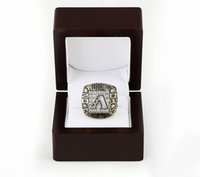 arizona championship ring - WITH WOOD BOX ARIZONA DIAMONDBACK Major League Baseball D design High quality Replica Championship ring STR0
