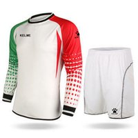 Wholesale S XL men s new design soccer tracksuits traning suits for adult jersey kit of goalkeeper football games