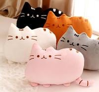 Cheap 2016 new stuffed plush toy pusheen cat girl kids Birthday gift Cute cat Pillow animal doll 40x30cm Big tail cat toy pink