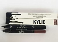 Wholesale 120pcs new Kylie liquid eyeliner Brown and Black in gel eyeliner double eye liner makeup eyes high quality