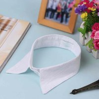 Wholesale Fashion Women Detachable Collar Crochet Hollow Lace Shirt Decor Fake Collar False Shirt collar necktie tie necklace jewelry QJ