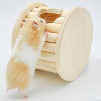 Wholesale Cylindrical Wooden Hamster House Hamster Bounce Platform