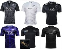 Wholesale NEW all black RUGBY jersey Zealand Top Thailand quality RWC NRL World cup Rugby Shirts