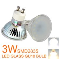 Wholesale LED spotlights GU10 W Epistar SMD2835 Lm bulb replacement W Halogen lamp GU10 downlight AC200 V None dimmable Warm white Cool white