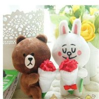 baby toy town - mini town doll Brown Bear Rabbit duck Animal Little doll Stuffed Plush Fashion and lovely baby toy