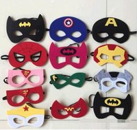 Wholesale costume Party masks halloween cosplay masks kids superman captain america batman felt mask for cartoons styles