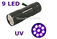 Wholesale 200pcs LED UV Colorful purple light Flashlight Torch Money Detector Light emitting