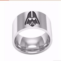 band of the hand - star wars jedi symbol men ring jewelry titanium steel phantom hand decorated edge part men s lord of the rings painted center