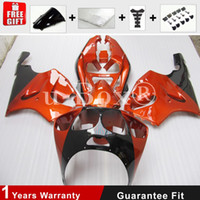 Wholesale 4 Free Gifts New TOP motorcycle bike Fairing Kit For Kawasaki Ninja ZX7R R bodywork set hot orange black
