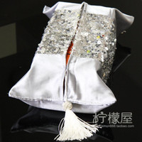 Wholesale Modern European style luxury bag pulling Home Furnishing mosaic towel sets Silver Round sequins napkin box sets special offer