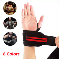 Wholesale 2 Adjustable Fitness Wrist Support Strap Weight Lifting Sports Gym Wristband Bandage Protector Wrist Support