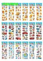 Wholesale 50 sheets Mixed Hot Kids Cute Cartoon d Puffy Stickers Sheet Kawaii Foam Sticker for Children