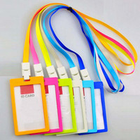 art business jobs - 10 Badge Holder with Lanyard New fashion Business ID Badge Card Vertical Holders Job Card
