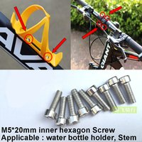 bicycle stem bolt - Bike Bicycles Water Bottle Cage Bolts M5 mm Stainless Steel Threaded Screws for Stem Bottle Holder Bracket Rack Cycling