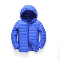 Wholesale boys and girls outerwear hooded warm coats child jacket new color children s cotton padded clothes top fashion