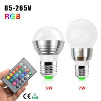 atmosphere controller - 1Pcs E27 W W Colors Dimmable RGB LED lamp Bulb AC V V For Decoration Atmosphere Night light With IR Remote Controller