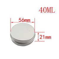 aluminum can caps - New arrival ml empty aluminum metal cans with screw cap round aluminum bottles empty cosmetic containers