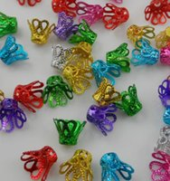Wholesale 1000pcs Mixed Aluminum Crown Beads Caps For Jewelry Making x9mm