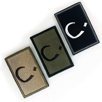 arabic patches - VP Embroidered patches Religious Symbols Christian N Arabic Tactical D Patch Combat Badge Fabric Armband Badges sew on patches