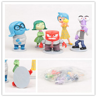 Wholesale 5pcs set Inside Out Figure Toys PVC Action Figures Dolls for Children Kids Christmas Gift Anger Joy Fear Disgust Sadness Stand up Dolls
