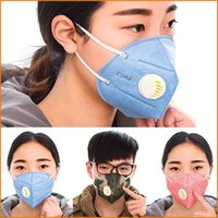 Wholesale Vertical Folding Nonwoven Valved Anti Haze Dust Mask PM2 Disposable Respirator Face Mask Mouth muffle With Valve