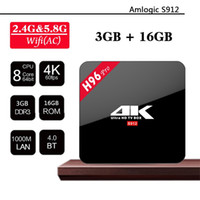 Wholesale H96 Pro Amlogic S912 Octa Core G G Android Smart TV Box Bt4 G G K Media Player