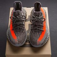 achat en gros de gris jaune chaussures de course-2017 SPLY-350 Boost V2 2016 Chaussures de course New Kanye West Boost 350 V2 SPLY Chaussures de course gris Orange Stripes Noir Rouge 10 couleurs