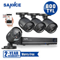 Wholesale SANNCE new CH CCTV System H DVR TVL IR Weatherproof Outdoor CCTV Camera Home Security System Surveillance Kits