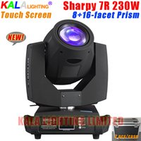 beam dj lighting - Stage Lighting DJ Disco light Fixtures Dual Rotation Prism Touch Screen With Flycase R W Moving Head Beam Light