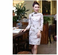 Wholesale Brand new Autumn chi pao Ethnic trditional children and women s long sleeve two colour Chinese clothing