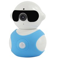 Wholesale Home Security Camera Alarm System Monitor Detection Mini Robot Surveillance WiFi Camera P HD Camcorder with Microphone Baby monitorin