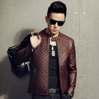 bamboo cultivation - Autumn leather men s self cultivation harbor wind PU leather jacket youth new leisure leather jacket