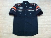 Wholesale 3 Colors Embroidery LOGO MOTO GP Racing Shirt Motorcycle Rider Cotton Shirt
